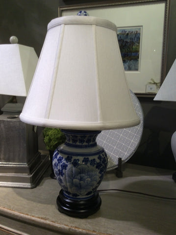 SEA ISLAND CORIANDER BLUE & WHITE LAMP  // REGISTERED FOR 2