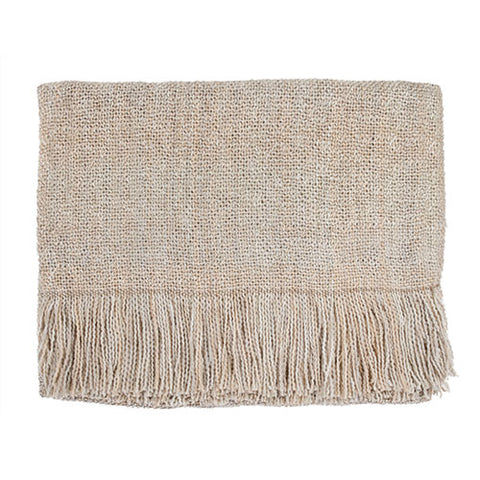 SERENE NATURAL THROW - CREAM