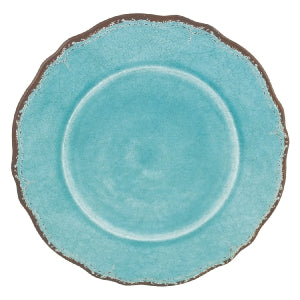 ANTIQUA TURQUOISE DINNER PLATE // REGISTERED FOR 12
