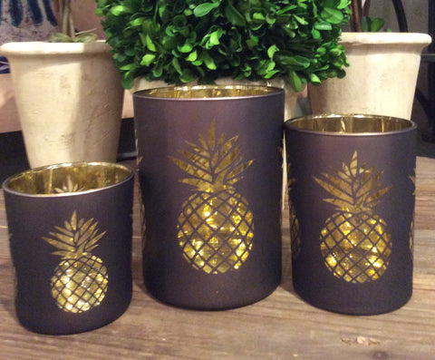 PINEAPPLE CANDLE HOLDER / / SET OF 3