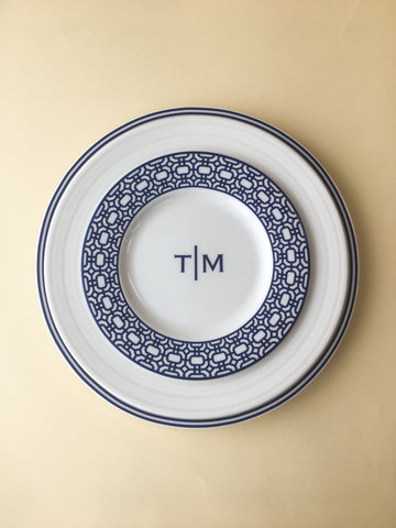 Newport Rimmed Salad Plate // Registered for 12 // Registry Complete
