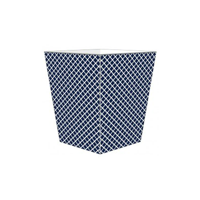 CHELSEA NAVY & WHITE WASTEBASKET