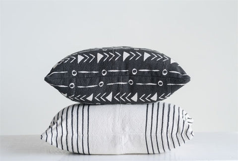 Aztec/Stripe Mud Cloth Pillows// 2 Styles Pair
