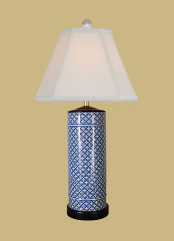 BLUE AND WHITE DOT LAMP