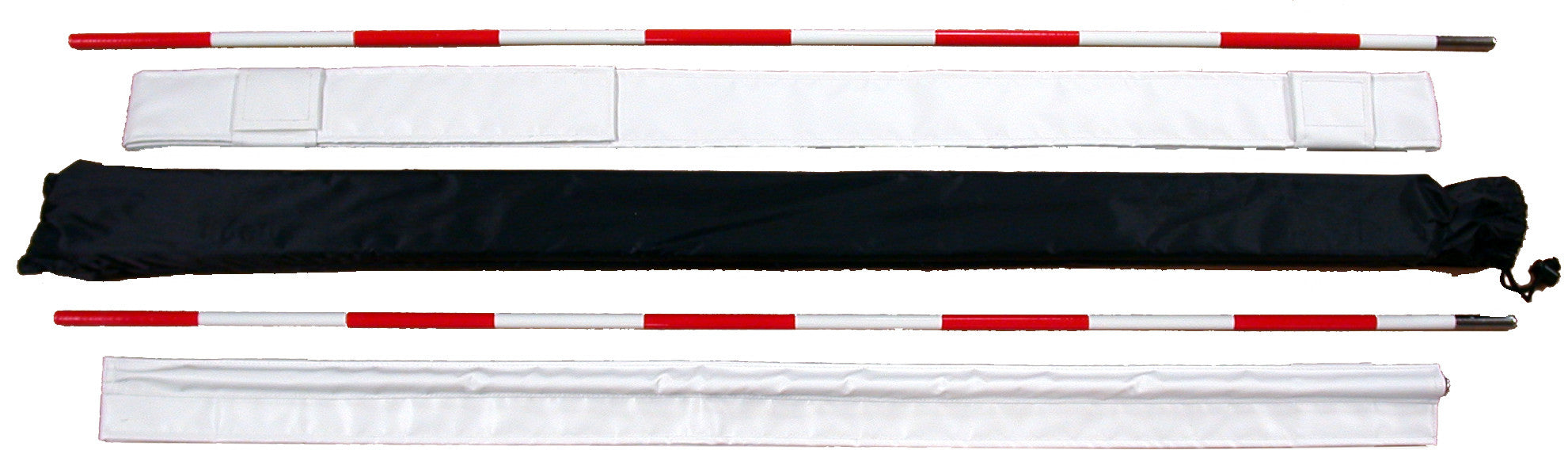 15A-two section red & white fiberglass net antenna & carrying bag