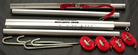 201P-3-section telescoping aluminum poles, guy lines & stake set