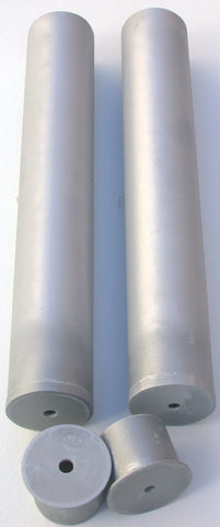 350A-pair of galvanized steel post sleeves, 3.5-inch I.D.