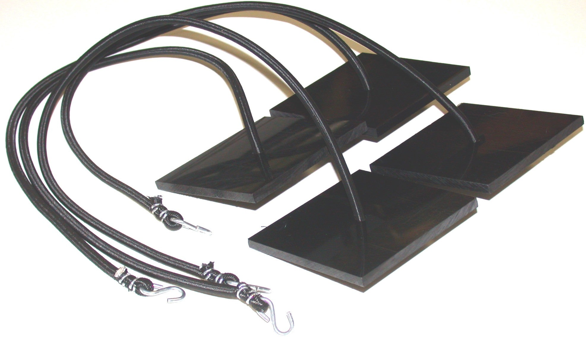 26B-four sand anchor plate set with bungee cord attached