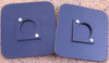 325-pair of black plastic base plates for portable sets