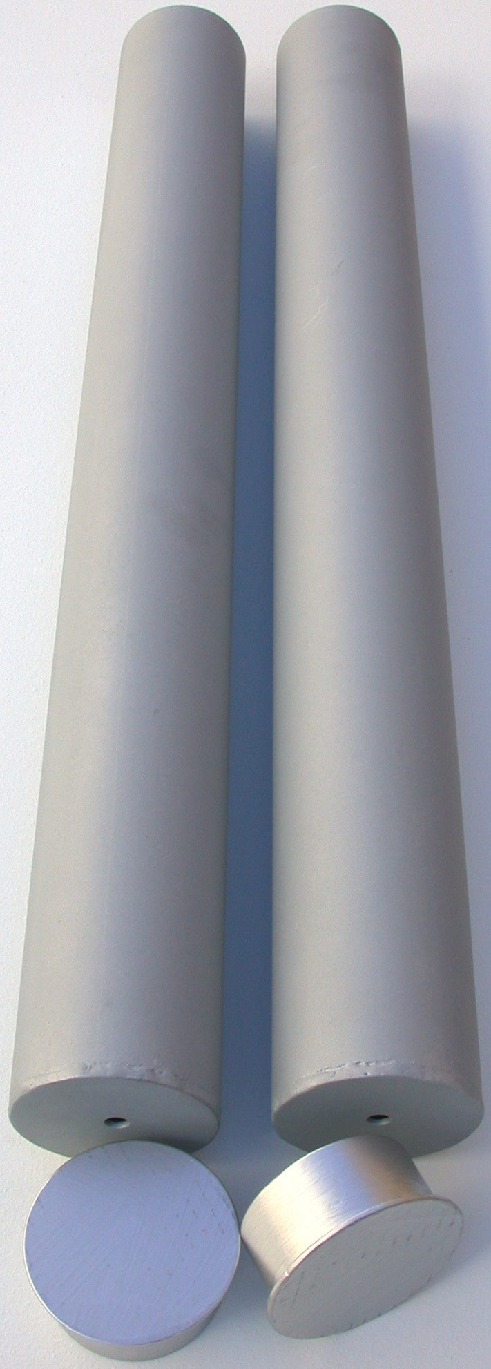 2375A-pair of galvanized steel post sleeves, 2.375-inch I.D.