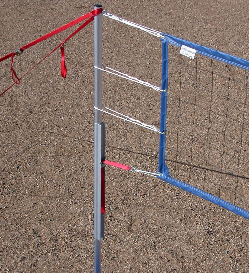 202-CNCB17-Power Net Portable Volleyball Set, poles, blue net, guy lines, web boundary, stakes & carrying bag