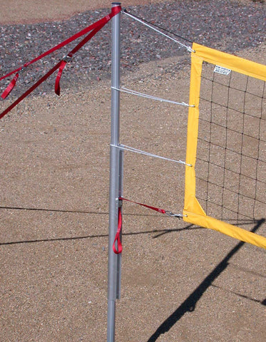 201-CNRY17-Power Net Portable Volleyball Set, poles, yellow net, guy lines, web boundary, stakes & carrying bag