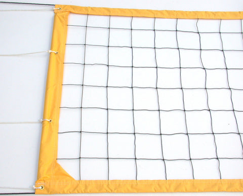 CNRY-Power Volleyball Net Twisted Rope Yellow Vinyl