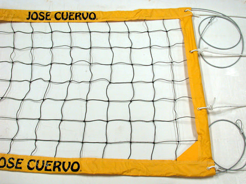 JCCNC-Jose Cuervo Logo Power Volleyball Net Aircraft Cable Yellow Vinyl