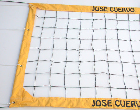 JCCNR-Jose Cuervo Logo Power Volleyball Net Twisted Rope Yellow Vinyl