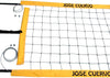 JCPNC-Jose Cuervo logo Power Volleyball Suspension Net Aircraft Cable Yellow Vinyl