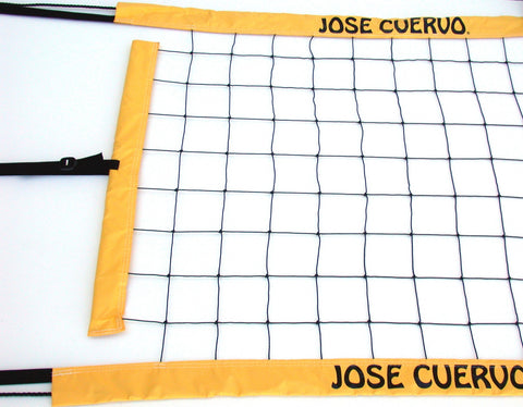 JCPNR-Jose Cuervo logo Power Volleyball Suspension Net Twisted Rope Yellow Vinyl