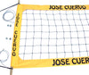 JCPRO-Jose Cuevo Logo Professional Volleyball  Net, Aircraft Cable Top & Bottom, 4-inch Yellow Tapes