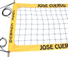 JCPROK-Jose Cuevo Logo Professional Volleyball  Net, Kevlar/Polyester Rope Top & Bottom, 4-inch Yellow Tapes