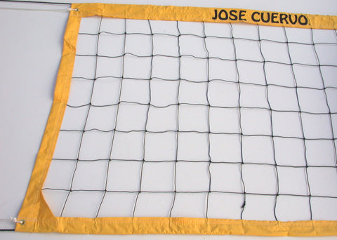 JCVRR-Jose Cuervo Logo Deluxe Volleyball Net Twisted Rope Yellow Vinyl