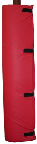 PADR-red vinyl cover post pad polyfoam filled