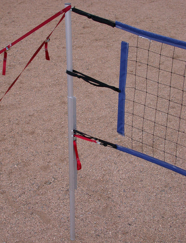 203-PNRB17A-portable volleyball set blue net tapes