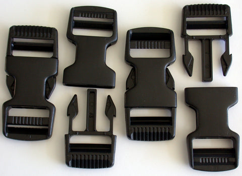 SR1- A set of 4 plastic side release buckles use on 1-inch webbing boundary kits