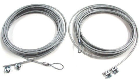 TBC4540-net cable kit, top & bottom plastic covered 1/8-inch steel aircraft cables & clamps