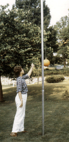 370-Tetherball pole 12-ft long galvanized plus ground sleeve