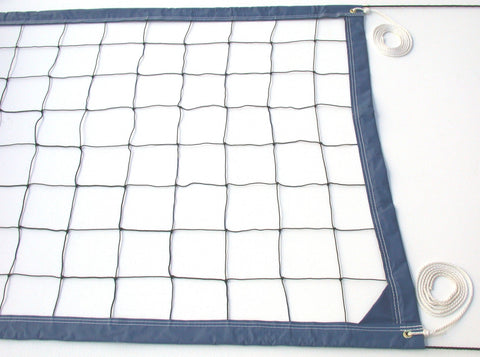 VRRB-Deluxe Volleyball Net Twisted Rope Blue Vinyl