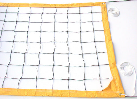 VRRY-Deluxe Volleyball Net Twisted Rope Yellow Vinyl