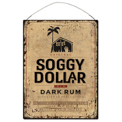 Dark Rum Rectangle Tin Sign