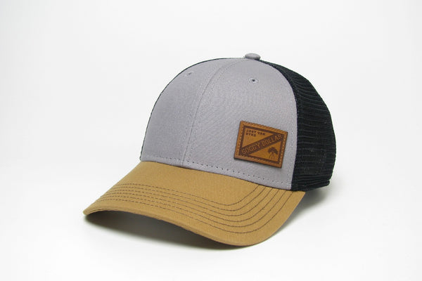 Mini All In Leather Patch Trucker