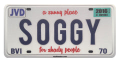 Soggy License Plate Sticker