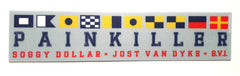 Painkiller Nautical Flags Sticker