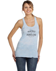 Palm Trees & Painkillers Flowy Racerback Tank Top
