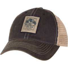 Distressed Rum Patch Trucker Hat