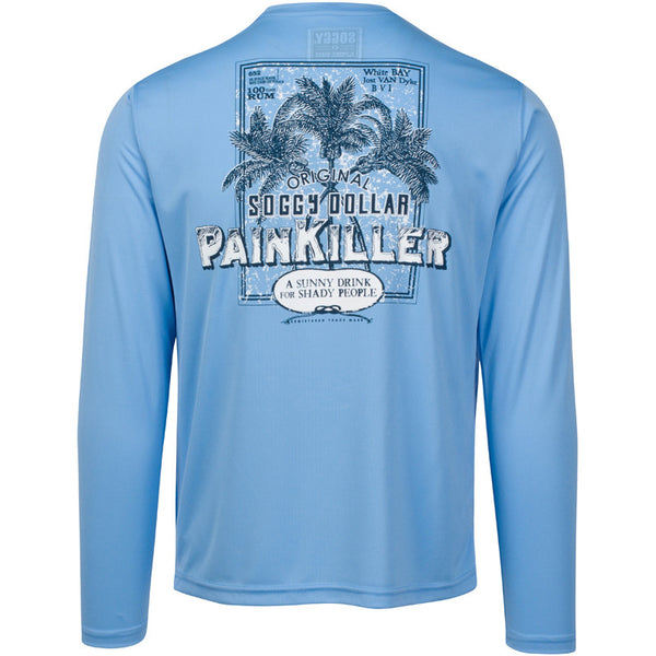 Distressed Painkiller Long Sleeve Vapor Tee