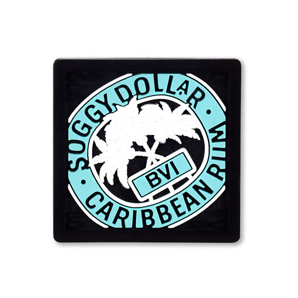 Triple Palm Square Rubber Coasters (4 Pack)
