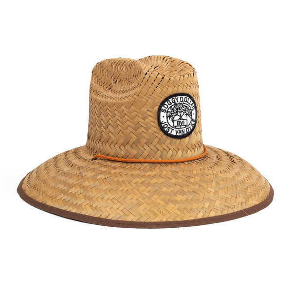 Triple Palm Straw Lifeguard Hat