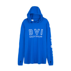 BVI Coordinates Long Sleeve Performance Hoodie (MENS)