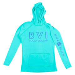 BVI Coordinates Long Sleeve Performance Hoodie (WOMENS)