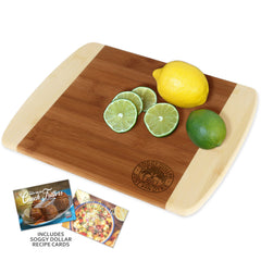 Triple Palm Stamp Cutting Board (Two Famous Soggy Dollar Recipes Included!)