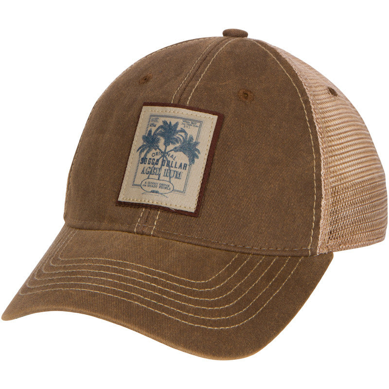 e0a40bc9118 Distressed Rum Patch Trucker Hat – Soggy Dollar