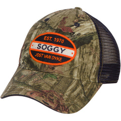 Split Oval Camo/ Navy Trucker
