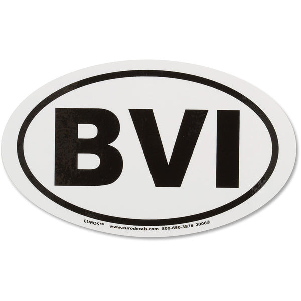 BVI Euro Sticker