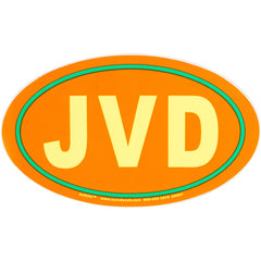 JVD Euro Sticker: Orange with Neon Yellow