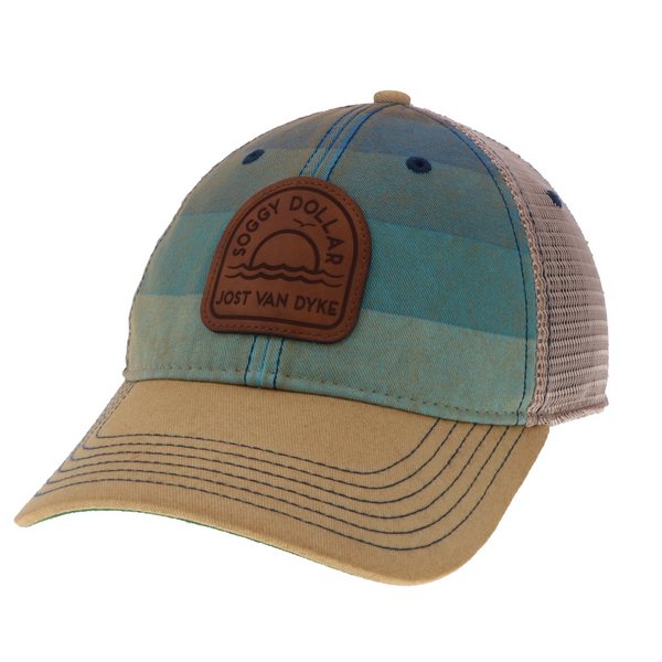 Striped Radial Trucker Hat