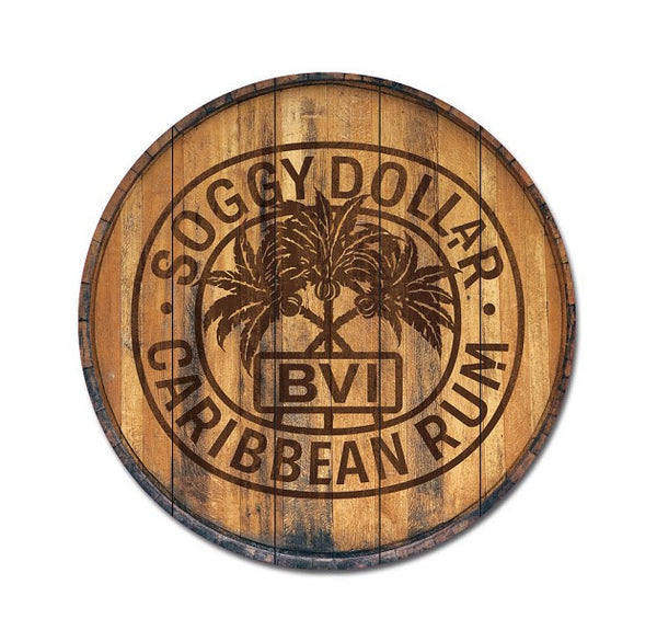 Rum Stamp Barrel Top Wall Mount 26 X 26
