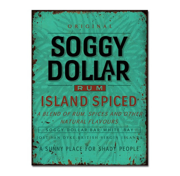 Island Spiced Rum Rectangle Tin Sign